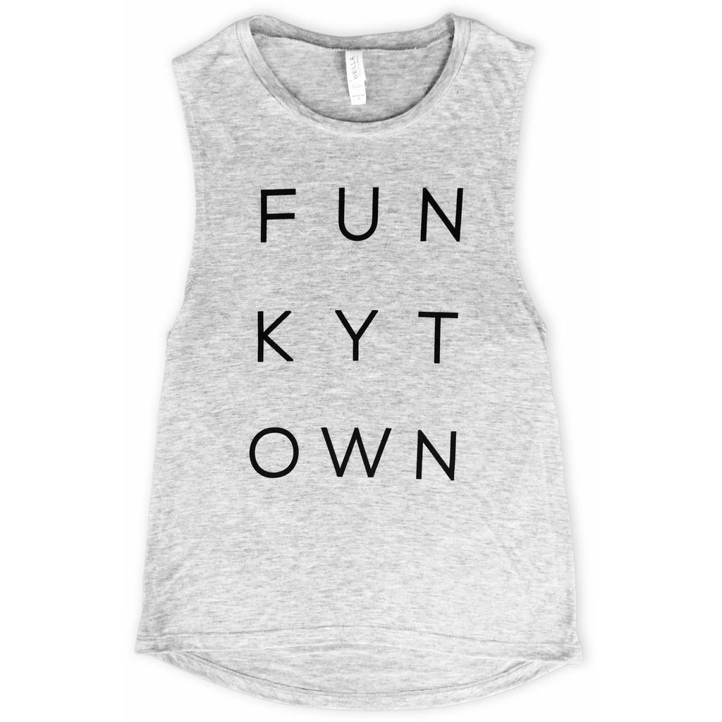 Athletic Gray Funkytown Muscle Tank