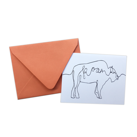 Black Buffalo Roam Note Card Set