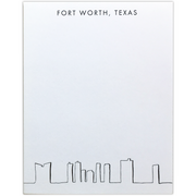 Fort Worth Skyline Notepad