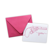 Pink Gun Pow Note Card Set