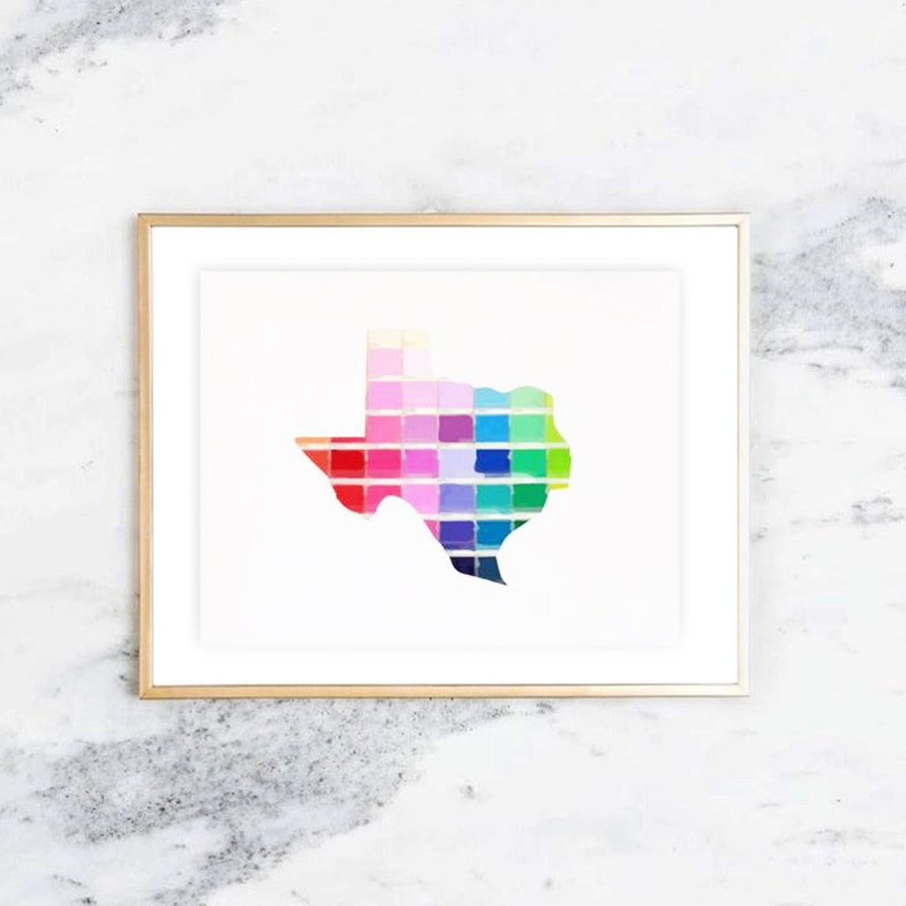 Paint Swatch Texas Print