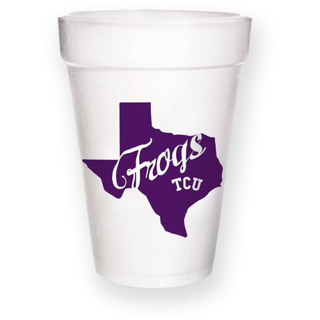 TCU Texas Frogs Styrofoam Cups