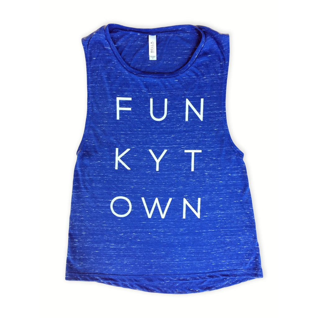 Royal Blue Heather Funkytown Muscle Tank