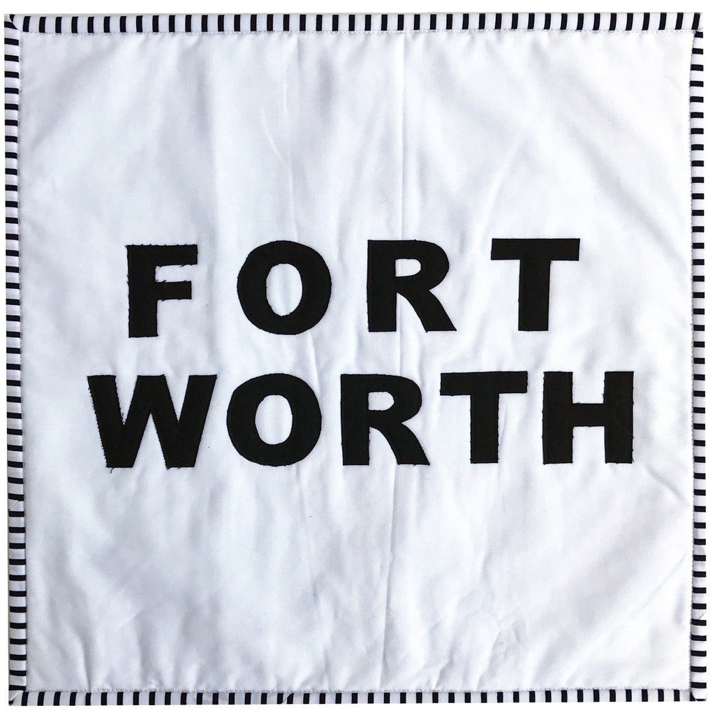 Cowtown Fort Worth Pillow Cover