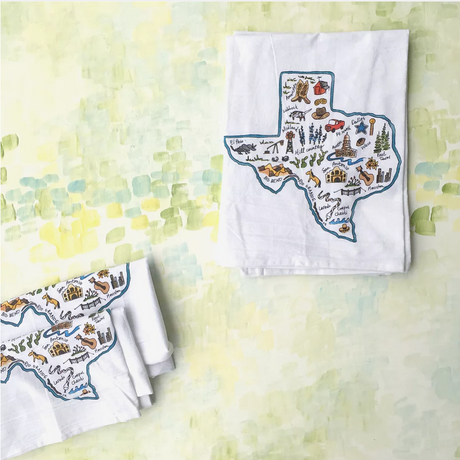 Texas Icons Flour Sack Towel
