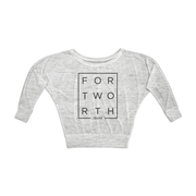 White Marble Modern Fort Worth Flowy Long Sleeve Tee