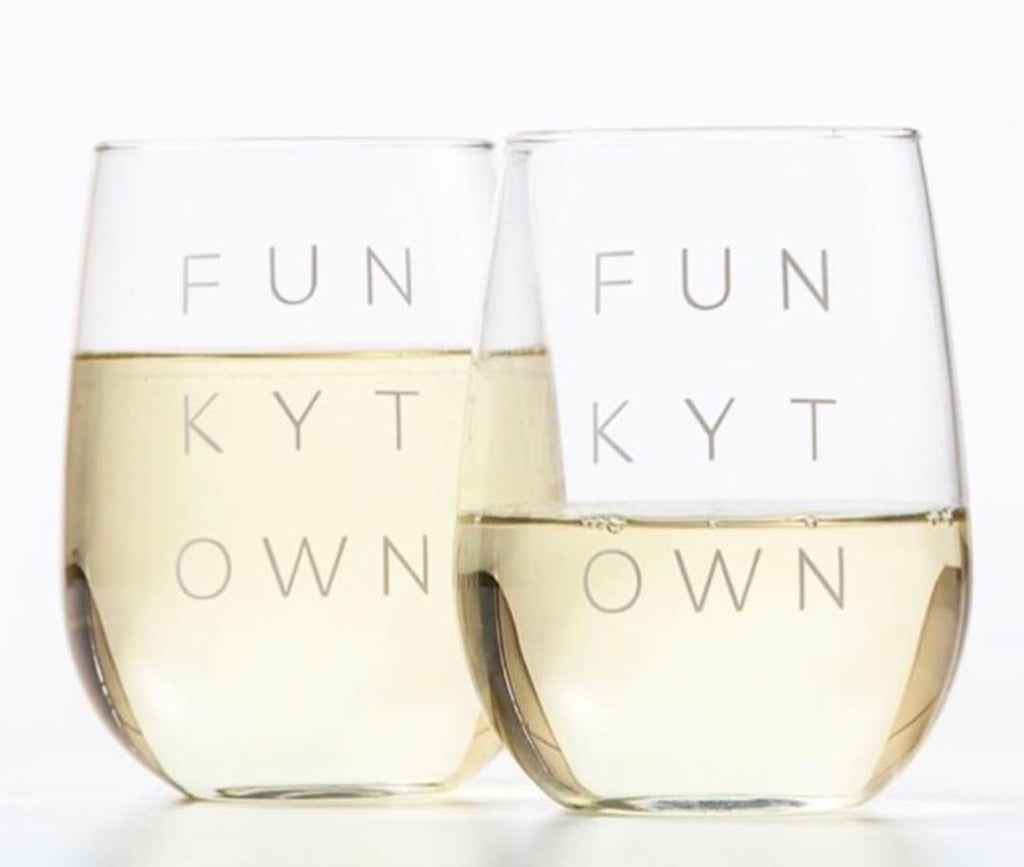 Funkytown Stemless Glass