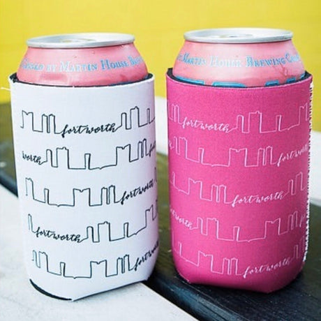 Fort Worth Skyline Koozie