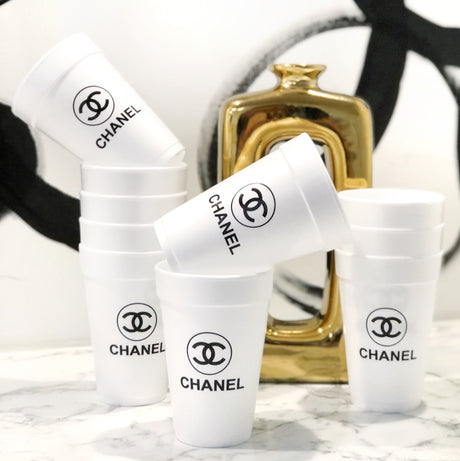 Chanel Styrofoam Cups