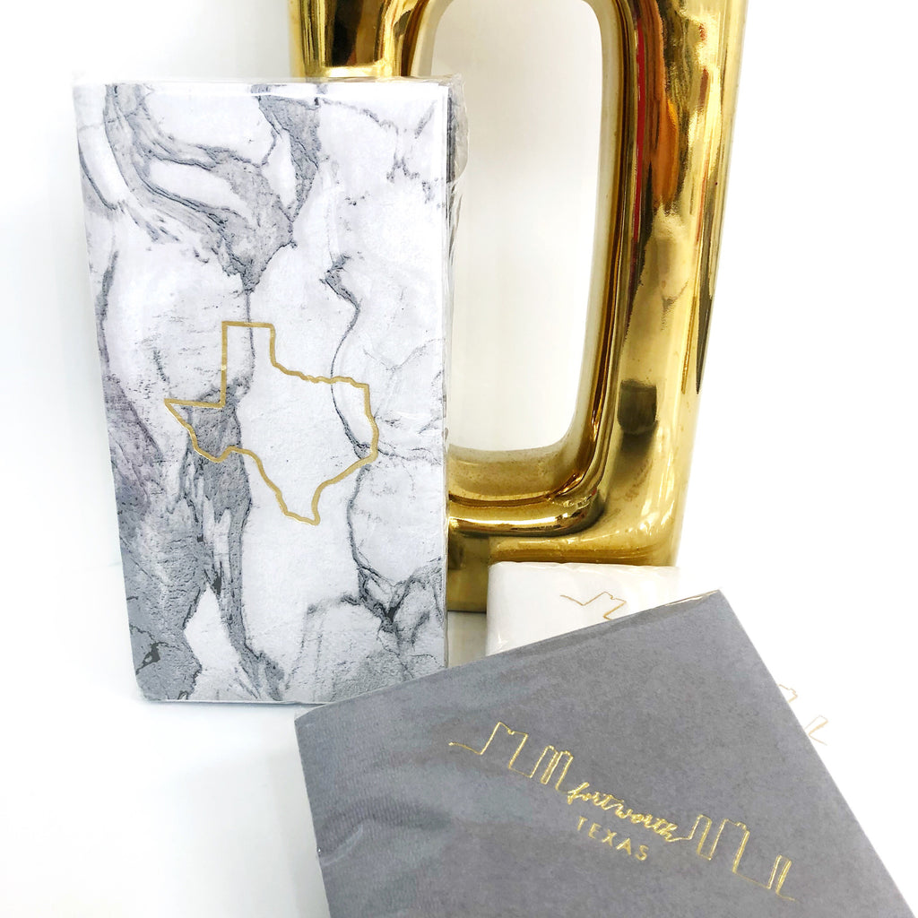 Marble Gold TX guest towels