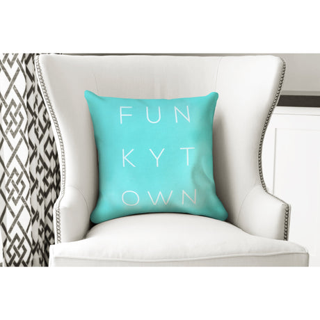 Turquoise Funkytown Pillow