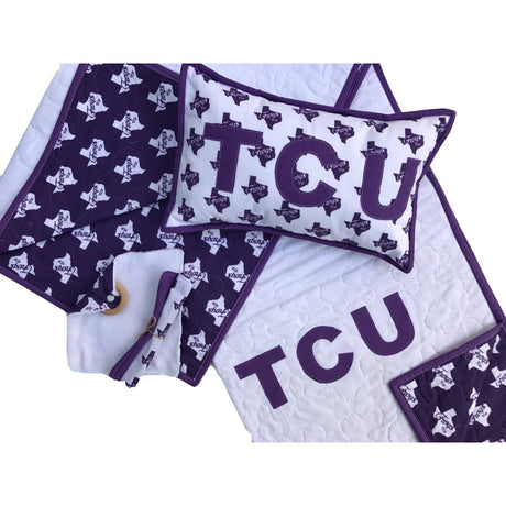 TCU Frogs Baby Quilt