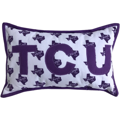 TCU Frogs Pillow