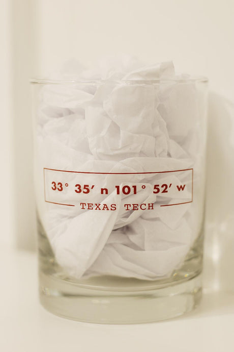 Texas Tech Coordinates Double Old Fashion Glass
