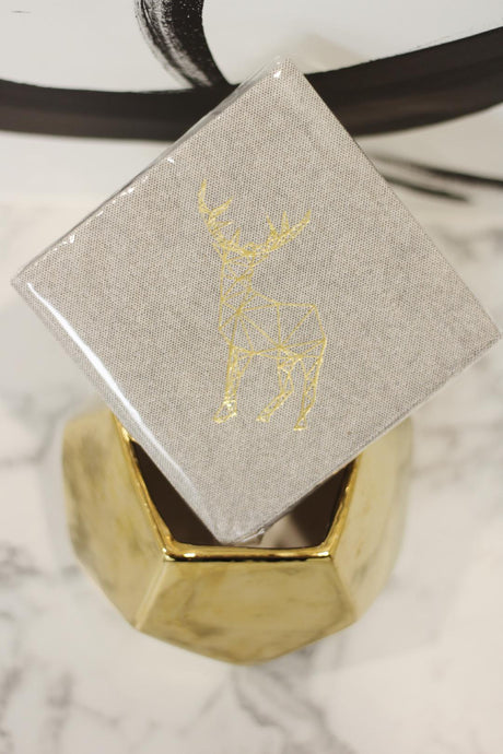 Tweed gold deer napkins