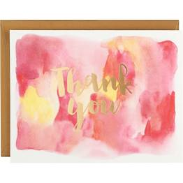 Watercolor Thank You