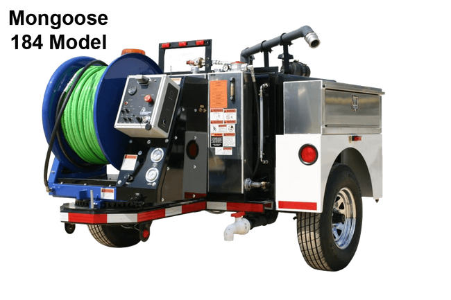 Mongoose 184 and 184XL Trailer Jetter (18 GPM @ 4000 PSI, 300 / 600 GALLON)