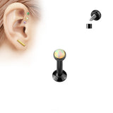 4mm Black Tragus Forward Helix Labret Monroe Lip Cartilage Bar Stud | Piercing Noir Cartilage Helix Labret Monroe Levre 4mm