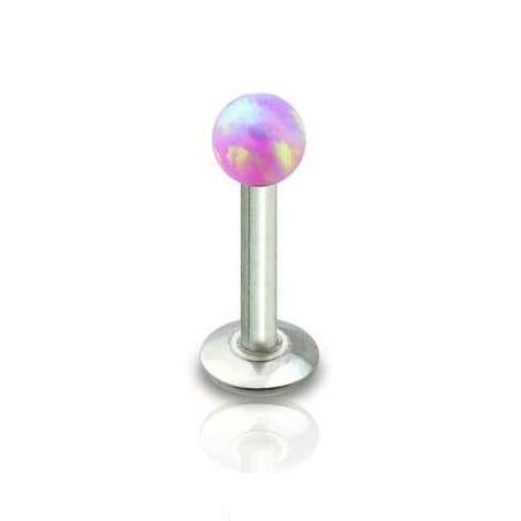 Purple Opal Ball Tragus Forward Helix Labret Monroe Lip Cartilage Bar Stud