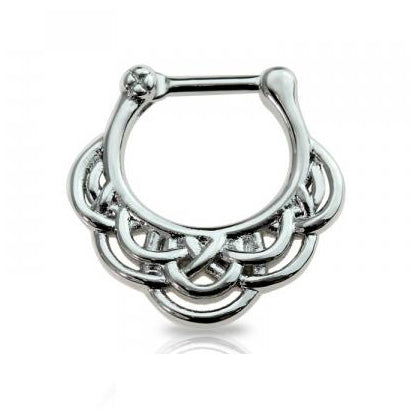 Wind Wave Designed Septum / Daith Clicker Ring