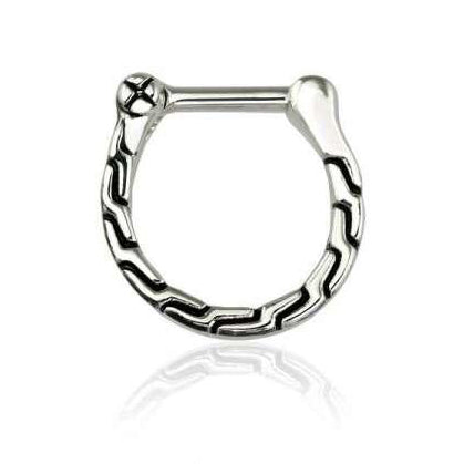 Tribal Link Design Septum / Daith Clicker Ring