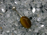 Tiger Eyes Sodalite Semi Precious Stone Belly Button Ring