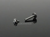 Square CZ Cartilage Tragus Helix Ear Stud