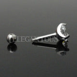 5mm Crystal Cartilage Helix Earring, Silver Tragus Piercing Stud | Piercing Cartilage Helix Cristal 5mm, Tragus Argent
