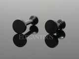 Black Circle Labret Bar Stud Lip Monroe Tragus Bar, Internally Threaded Tragus Bar