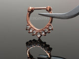 Rose Gold Chevron Clicker Septum Ring