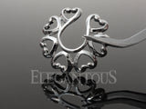 Silver Heart Clip On Nipple Ring, Non Piercing Heart Nipple Shield