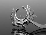 Blazing Skull Non-Piercing Clip On Nipple Ring
