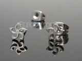Silver Tribal Star Ear Stud