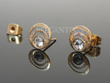Gold Triple Loop Ear Stud