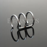 Silver Triple Closure Ring, Surgical Steel Fake Non-Piercing Cartilage Clip-On
