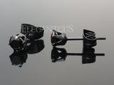 3mm-4mm Black Crystal Cartilage Earrings | Piercing Cartilage Cristal Noir 3mm-4mm