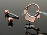 Rose Gold Lace Circle Nipple Shield, 14G Nipple Barbell