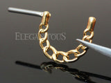 Gold Plated Chain Nipple Clicker Ring