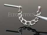 Silver Chain Nipple Clicker, Linked Chain Nipple Piercing