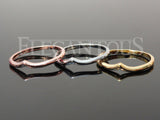 Set Of Three Chevron Midi Rings / Toe-Rings