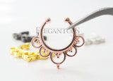 4 Colors Fake Lotus Flower Septum Ring | Faux Anneau Septum 4 Couleurs Fleur Lotus