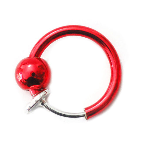 Fake Red Nose, Lip, Ear Hoop, Steel Spring Action