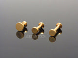 Gold Circle Labret Bar Stud Lip Monroe Tragus Bar, Internally Threaded Tragus Bar
