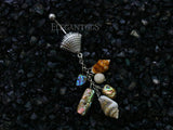 Seashell Charm Chain Dangle Belly Ring