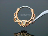 Rose Gold Lacey Opal Septum / Daith Clicker Ring