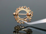 Rose Gold Swirling Leaves Tribal Nipple Shield Ring, 14G Nipple Barbell