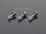 Star CZ Cartilage Tragus Helix Ear Stud