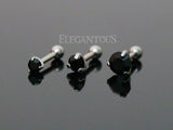 Set Of Three Sizes Black Crystal Cartilage Helix Earring