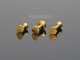 Gold Internally Threaded Heart Labret Bar Stud Lip Monroe Tragus Bar