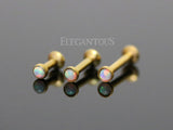 8mm Gold Tragus Forward Helix Labret Monroe Lip Cartilage Bar Stud | Piercing Monroe Labret Levre Cartilage Barre Or 8mm